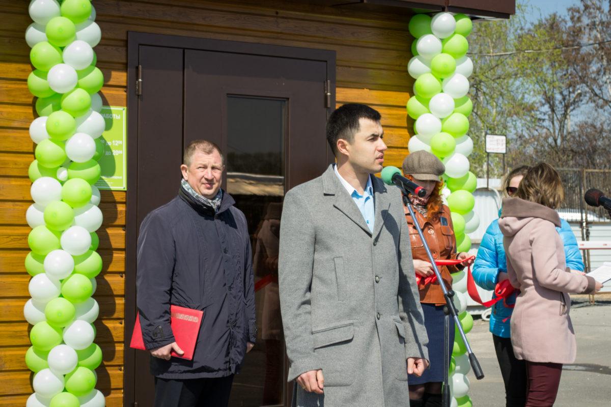 Открытие пункта ЧИСТЫЙ БЕЛЫЙ КРАЙ в Алексеевке. Речь директора