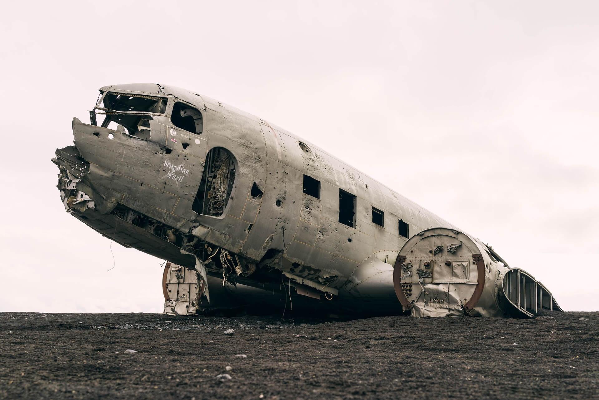 Flight shame. Старый самолет.